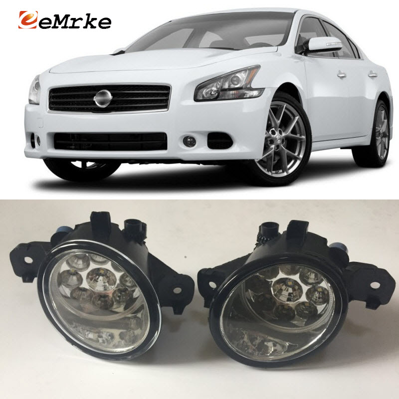 EEMRKE For Nissan Maxima 2007 2008 2009- 9-Pieces Led Halogen Fog Lights 12V 55W Fog Head Lamp Car-Styling ce fda approved best digital tone hearing aids aid behind the ear sound amplifier brand new