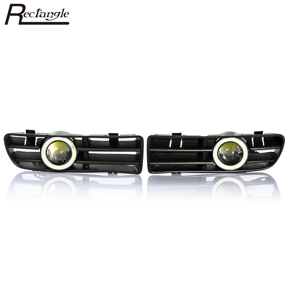 Rectangle Pair of LED Foglight Front Bumper Fog Lamp Grille Convex Lens Perfect fit for Volkswagen Golf MK4 2002 - 2008 adult s roller skates inline skating f2 2013 white and black flying eagle f2