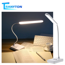 Eye Protection LED Desk Lamp Touch Switch Dimmable Flexible USB Powered Table Lamp Study Reading Lights For Student Night Light цена 2017