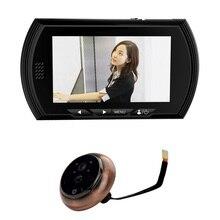 4.3 inch mirillas пуэрта цифровой 1.0 Мпикс CMOS дверь камеры PIR Датчик Движения ИК Ночного видения НЕ Нарушать Режим mirilla пуэрта