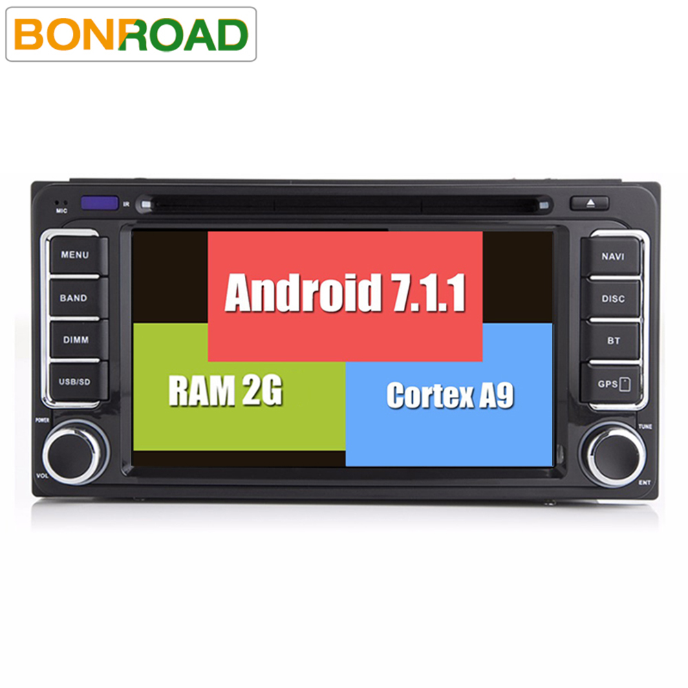 imágenes para 7.1.1 Pure Android 2Din Coche Reproductor de Vídeo Quad Core 16G o 32G ROM 1024*600 de la Pantalla Auto Universal Headunit Radio Audio GPS Navi