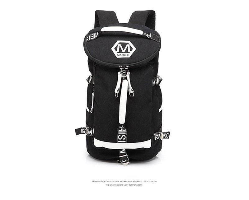 Men's Multi-Functional Backpack Vintage Shoulder Bag High Quality Canvas Male Bagpack Rucksack Travel Luggage for Weekend 18