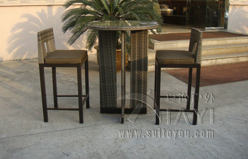 3pcs Rattan Bar Set , Outdoor Garden Table And Chairs dining table chairs in rattan materials outdoor garden dining set