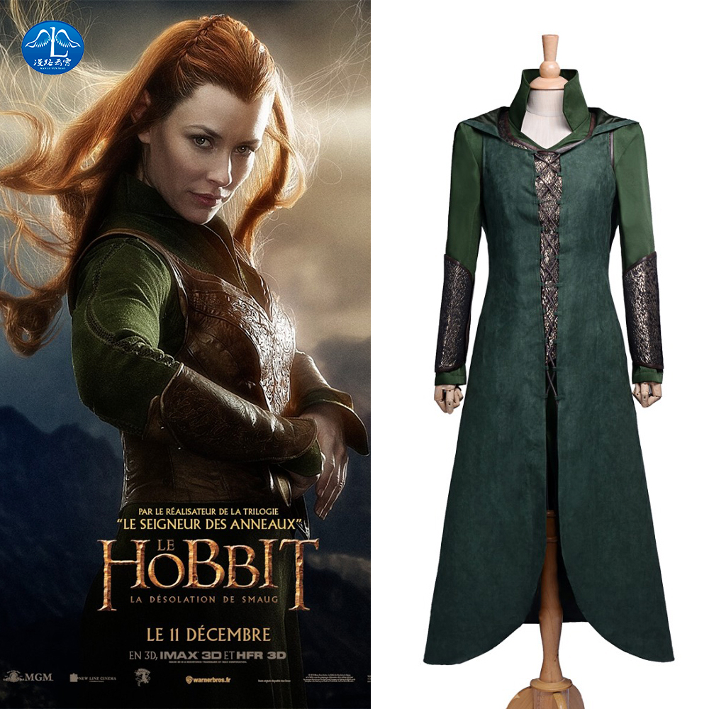 MANLUYUNXIAO Gratis fraktfilm Cosplay kostym Hobbit Cosplay kostym Halloween kostymer för kvinnor Custom Made