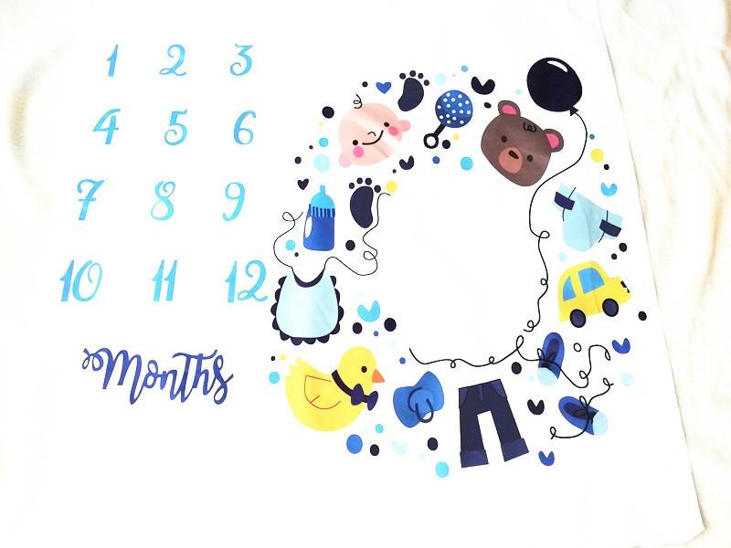 HTB1K.ZkXZnrK1RjSspkq6yuvXXaw Cartoon Pattern Infant Baby Milestone Photo Props Background Blankets Play Mats Backdrop Cloth Calendar Photo Accessories Nordic