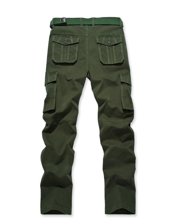 khaki Estilo Hombres Black Joobox claret Ejército Cinturón Bolsillos Sin Trabajo Fitness Workwear Green Militar Algodón red Ropa Pantalones army Cargo Multi SUxdnpx
