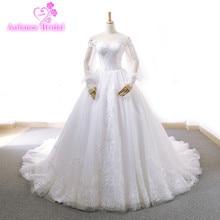 AOLANES Ball Gown Wedding Dress 2018 Long Sleeve