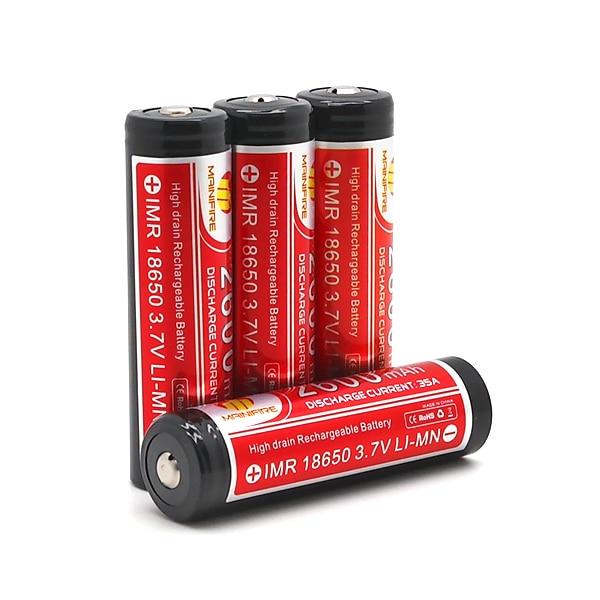 Replacement Batteries Power Source 2pcs/lot 2015 Mainifire Imr186502600mah 25a Button Top Li-ion Battery For E Cig Scooters Balance Car
