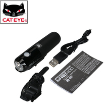 CATEYE VOLT400 Bikes Portable LED Light USB Rechargeable Bike Handlebar Helmet Front Lights Cycling Riding Safety Light Lamps