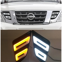 LED DAY LIGHT TURN SIGNAL LIGHTTING FRONT GRILLE LIGHTS FIT FOR NISSAN PATROL Y62 2012 2016 EXTERIOR AUTO LAMP ACCESSORIES