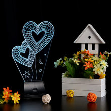 Valentine's Day Christmas Gift 3D Visual LED Night Light Creative Lava Table Lamp Novelty Lighting luz de noche Rose/Heart/Sky(China)