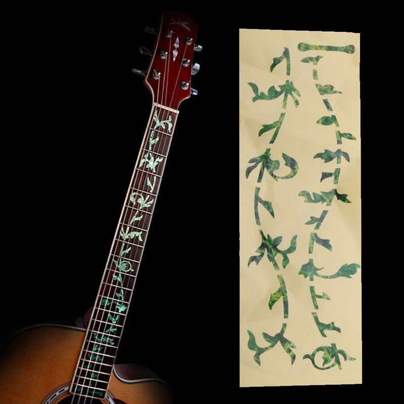 Hot Selling Guitar Fingerboard Panel Sticker Cherry Blossom Decals Decoration For Ukulele Bass Evident Effect Guitar Parts & Accessories Stringed Instruments