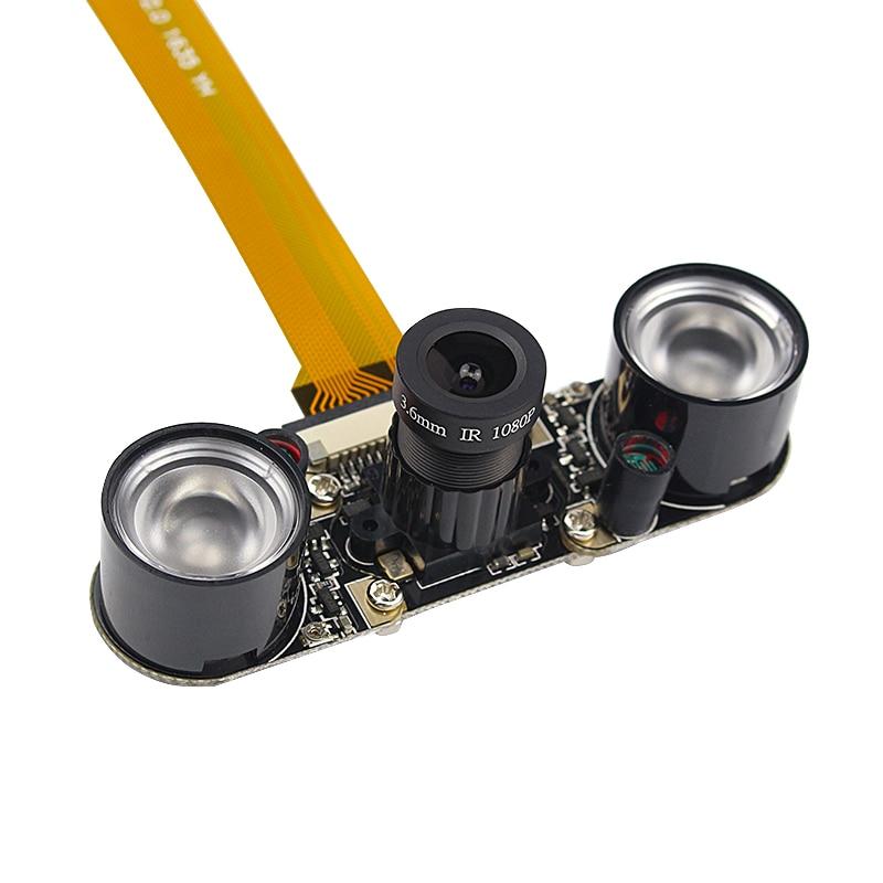 Raspberry Pi Zero Camera Module 5MP Focal Adjustable Night Vision Camera With IR Lights+16cm FFC Cable For Raspberry Pi Zero W