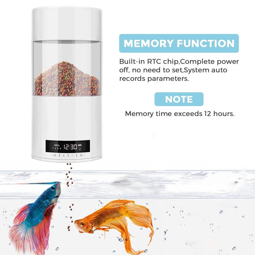 temporizador do tanque de peixes alimentador de