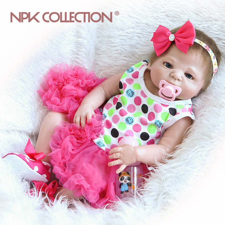 22inch silicone vinyl real soft touch reborn victoria doll wholesale lifelike reborn baby blue eyes doll