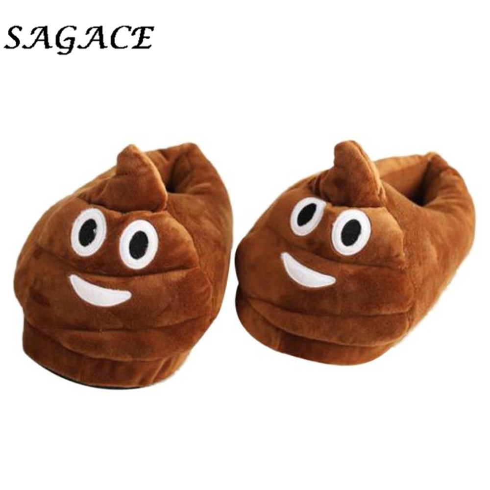 SAGACE  shoes woman 2018 Winter Plush Lovely Cartoon Slipper Expression Men And Women Winter House SlippersSAGACE  shoes woman 2018 Winter Plush Lovely Cartoon Slipper Expression Men And Women Winter House Slippers