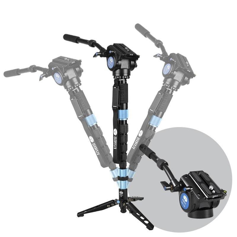 DHL Free Shipping Sirui P-426S P426S Carbon Fiber Monopod Tripod For Camera VH10 Hydraulic Head 6 Joint Tripod Bag Loading 10kg