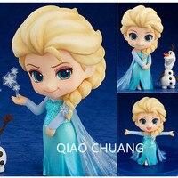 NEUE 10 CM 4 ''Chanycore GSC Nendoroid #475 Ice World Elsa prinzessin Olaf PVC Action Figure Sammlung Modell Spielzeug KLEINKASTEN S324