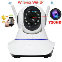 Wireless IP WIFI 720P Pan Tilt Network Security CCTV Camera Night Vision EU RU Free DDNS