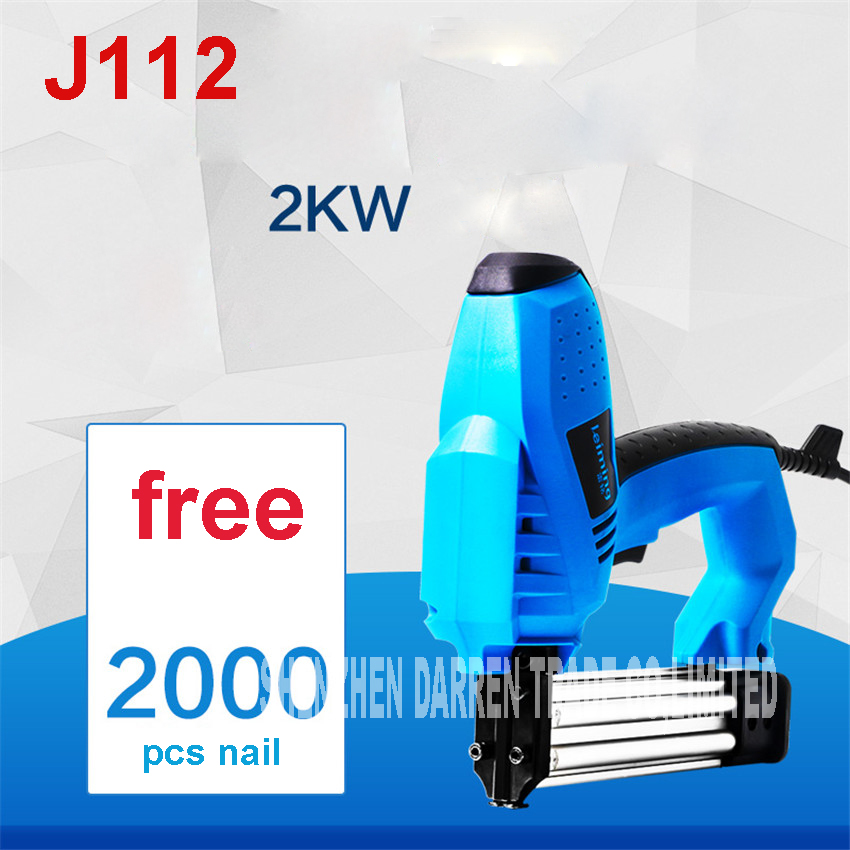J112 Electric nailer 2000W nail gun framing nailer tools eletric nails gun electric power tools 220v