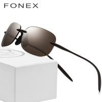 Ultem TR90 Rimless Polarized Sunglasses Men High Quality Square Brand Designer Sun Glasses for Women with Nylon Lenses 736