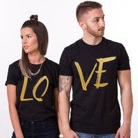EnjoytheSpirit Casal Tshirt Engraçado Amor Carta de Impressão de Algodão Camisa Unisex T para Os Amantes do Tamanho XS-2XL Top Tee 100% Algodão Conforto