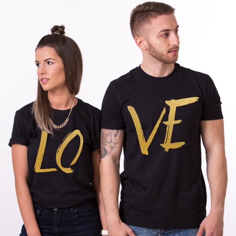 EnjoytheSpirit Paar T-shirt Lustige Liebe Brief Drucken Baumwolle Unisex T Shirt für Liebhaber Größe XS-2XL Top T 100/% Baumwolle Komfort