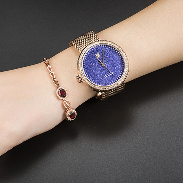 Top Brand Star Sky Watches Women Ultra Thin Stainless Steel Clock Ladies Quartz Wrist Watches montre femme Saat Relogio Feminino