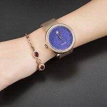 Top Brand Star Sky Watches Women Ultra Thin Stainless Steel Clock Ladies Quartz Wrist Watches montre femme Saat Relogio Feminino цена и фото