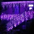 4,5 М 96 Светодиодный сосулька Шторы оконные светильники водопад фея струнные светильники для внутреннего открытый Рождественский праздник Свадебные гирлянды - фото