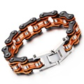 2016 Famous New Brand Motorcycle Bracelet Rock Punk Vintage Bike Bracelets Bangle Antique Orange Black Fashion Jewelry Accessory