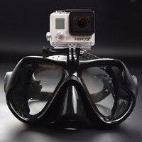 2017 Горячая Professional подводная камера Дайвинг маска подводное плавание плавательные очки для GoPro Xiaomi SJCAM Спортивная камера