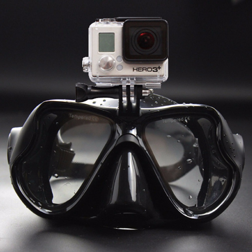2017 caliente profesional Cámara subacuática buceo máscara buceo Snorkel natación gafas para GoPro Xiaomi SJCAM Cámara deportiva
