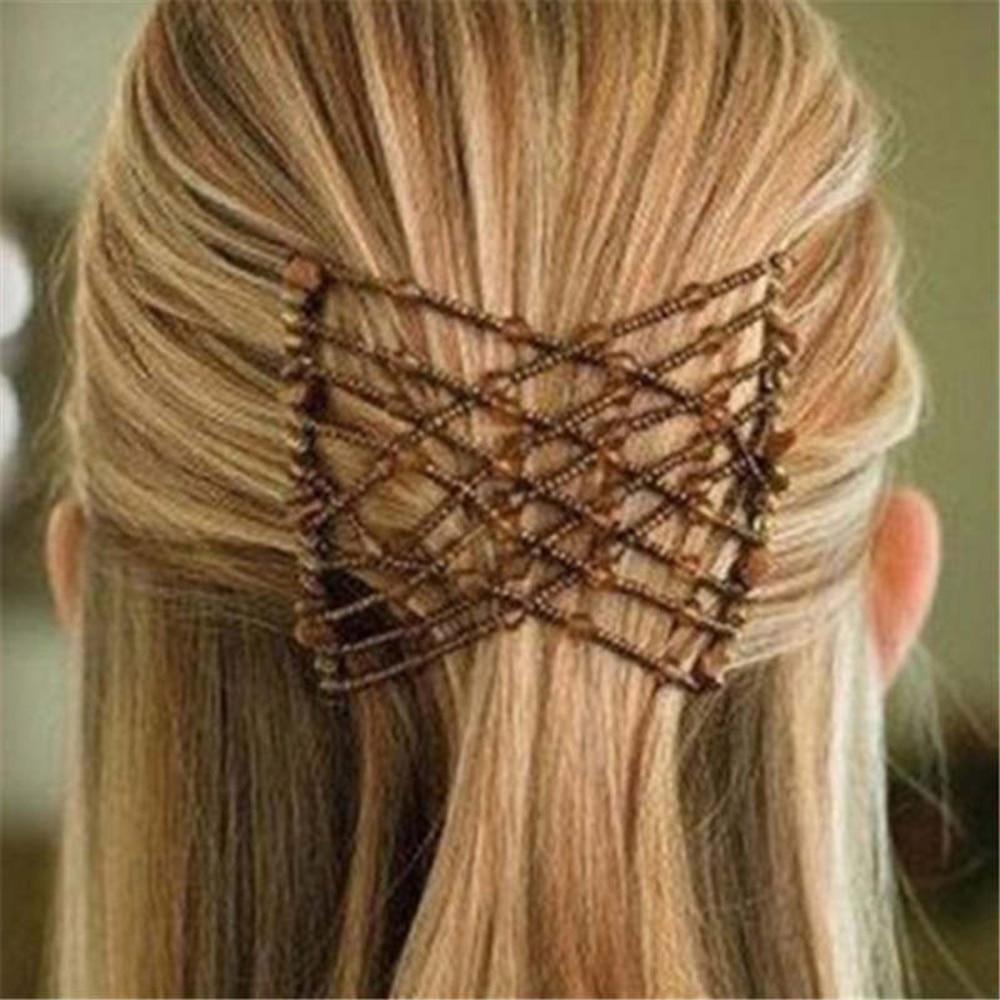 Women Wild Hair Clip Pearl Magic Cross Steel Headdress Girl Hair Feeder DIY Hairstyle Headband Hair Making Accessories