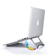 Aluminum Laptop Stands Stable Portable Heat Dissipation Foldable Flat Bracket For macbook Apple Computer Stand