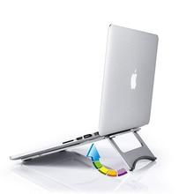 Aluminium laptop steht stabil tragbare wärmeableitung faltbare flache halterung für macbook apple computer stehen
