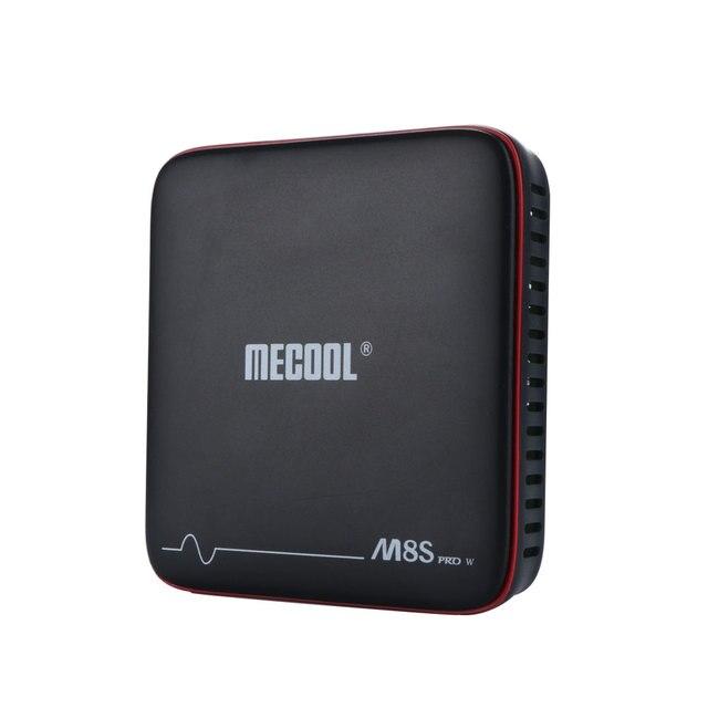 SATXTREM MECOOL M8S PRO W Android 7,1 ТВ Box Amlogic S905W 4 ядра 2 Гб Оперативная память DDR3 16 Гб Смарт ТВ-приемник с wifi 4 K H.265 Декодер каналов кабельного телевидения 2