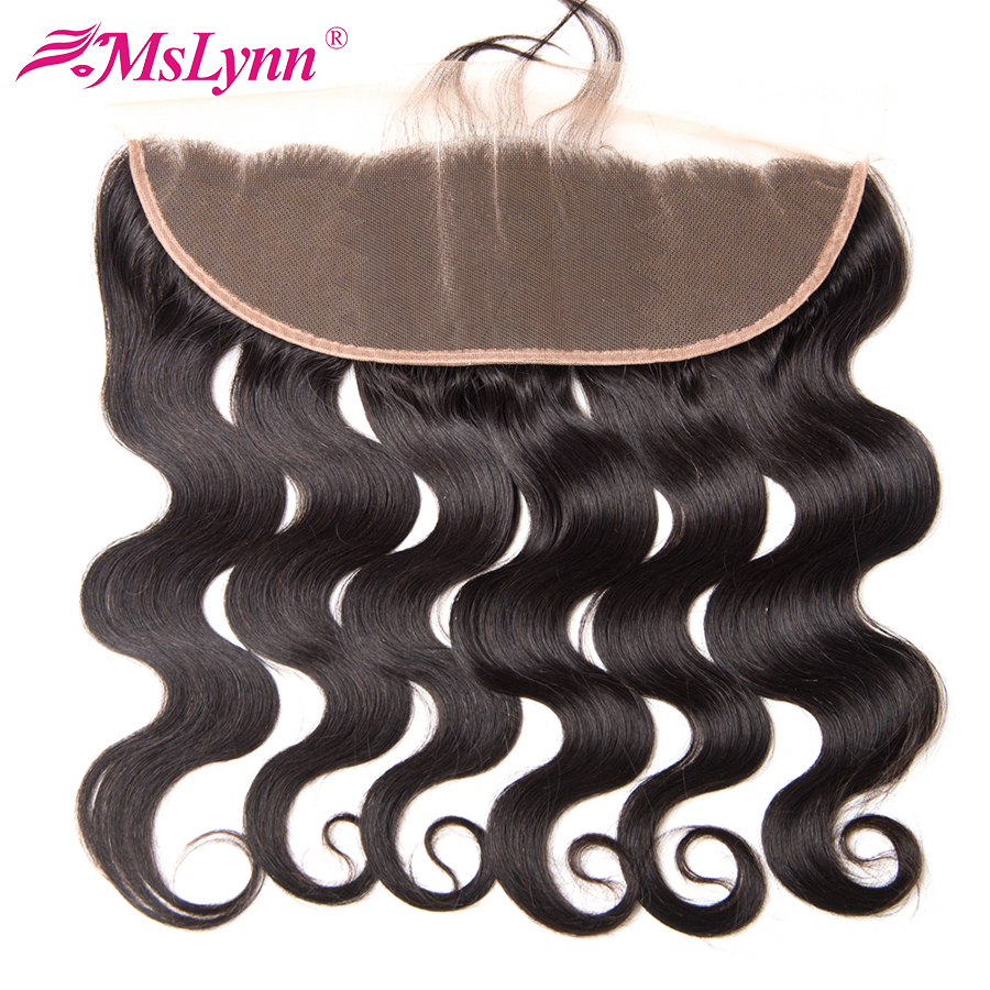 Mslynn 13x4 Pre Plucked Lace Frontal Closure With Baby font b Hair b font Brazilian Body