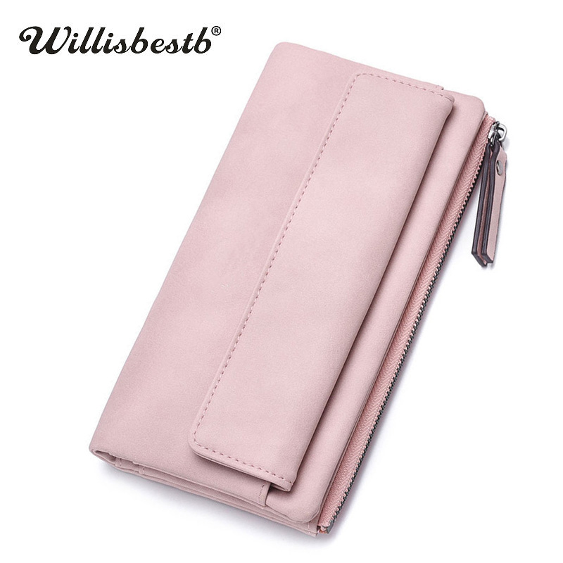 2018 New Ladies Purses Women Wallets Female Long Zipper Character Leather Purse Woman Wallet Phone Holder Clutch Monedero Mujer