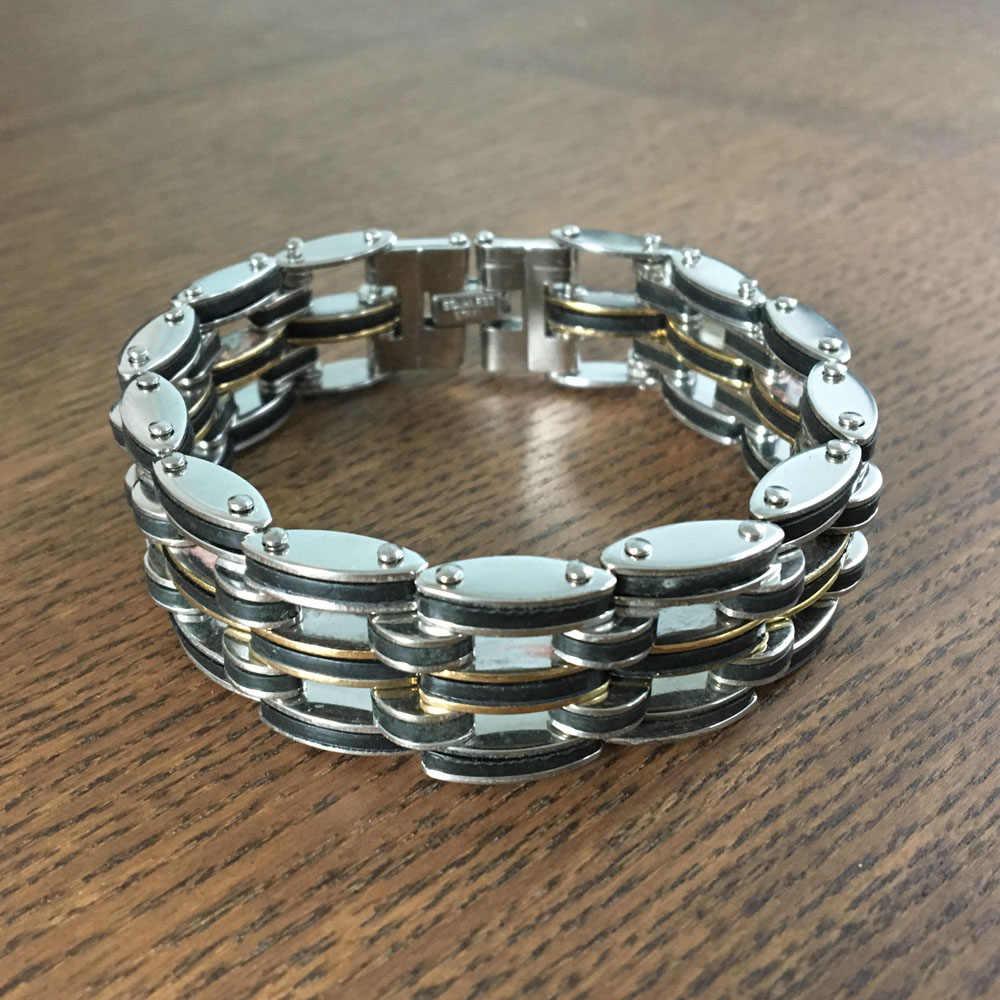 Bransoleta ze stali nierdzewnej dla mężczyzn 22 CM Chain & Link bransoletki Trendy specjalna Off nowy nabytek 2018 (JewelOra BA102252)