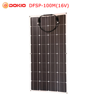 Dokio 12V 16V 100W Monocrystalline Flexible Solar Panel Portable 100W Panel Solar For Car/Boat/Home Panel Solar 100w China