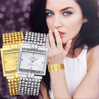 Women Watch High Quality Women S Stainless Steel Quartz Watch Rhinestone Crystal Analog Wrist Watch Famous