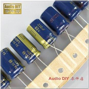 10pcs//50pcs 330UF 63V 10X20mm Nichicon FW 63V330uF High Grade Audio Capacitor