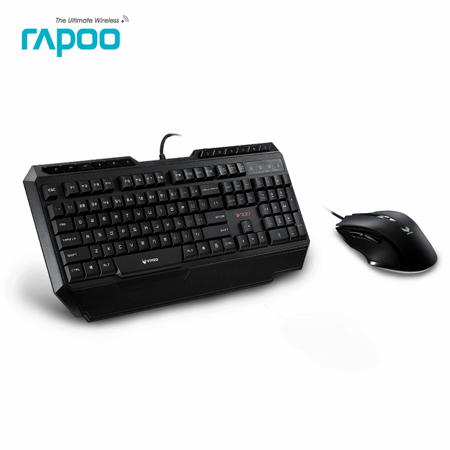original rapoo v100 led backlight usb wired laptop pc pro gaming