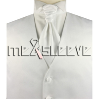 Hot Sale Men S New Plain Ivory Waistcoat Set For Suit Vest Ascot Tie Cufflinks Handkerchief