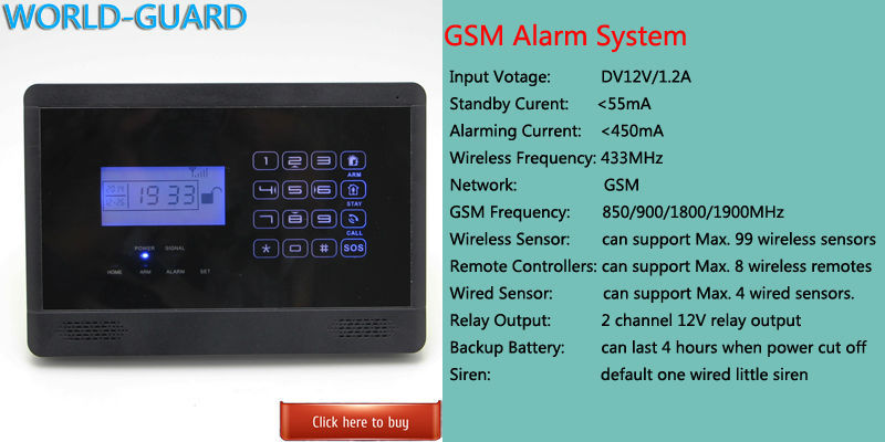 HOMSECURITY DIY Wireless& Wired GSM Home Security Burglar Alarm ...