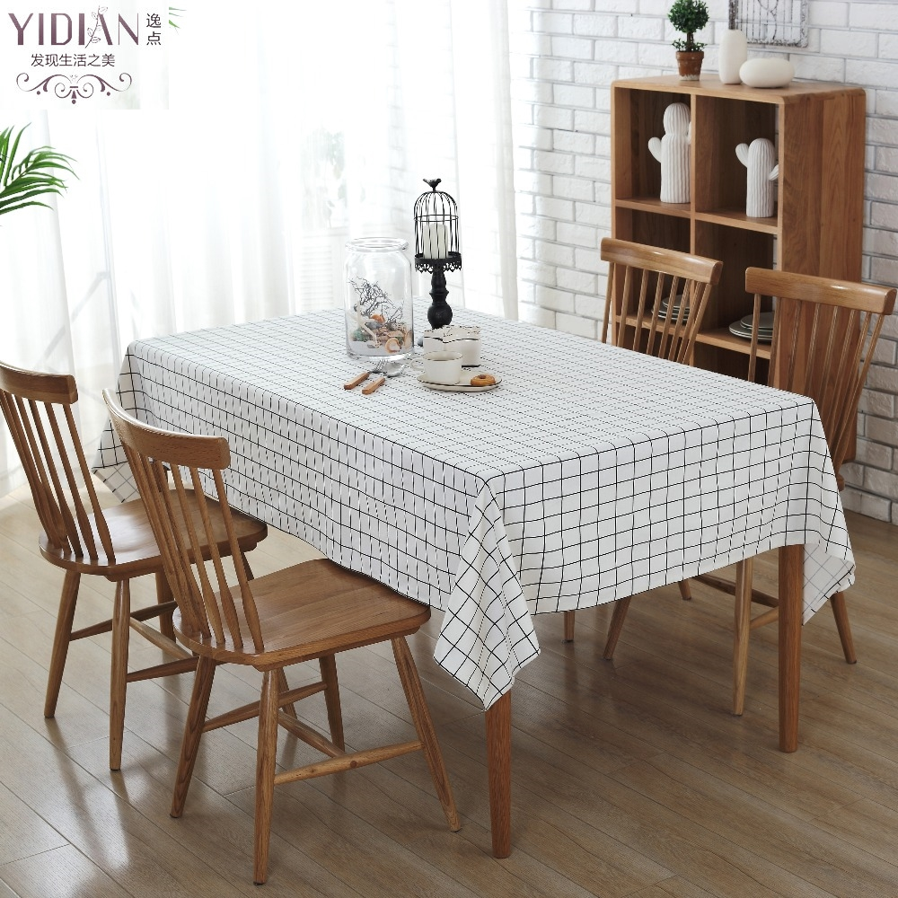 online get cheap modern table cloths aliexpresscom  alibaba group - waterproof canvas plaid tablecloths modern simple table cloth rectangularfor wedding decoration nappe rectangulaire tafelkleed(