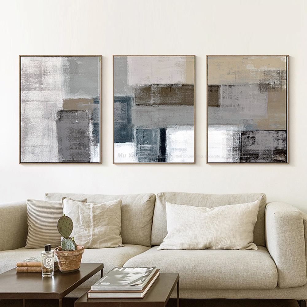 Tableau Deco Salon | Cuadros Decoracion Abstracta Quadros De Parede Para Quarto Tableau