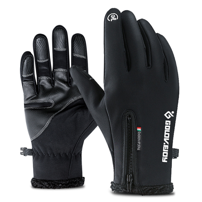 Touch Screen Bike Gloves Winter Thermal Windproof Warm Full Finger Cycling Glove Anti-slip Bicycle Gloves For Men Women rockbros cycling gloves full finger touch screen men women winter warm mtb bike bicycle windproof gloves for smartphone phone