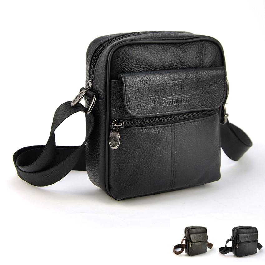 Hot Sale New Fashion Genuine Leather Men Bags Small Shoulder Bag Messenger Handbag Women Crossbody Purse Casual Practical Pouch